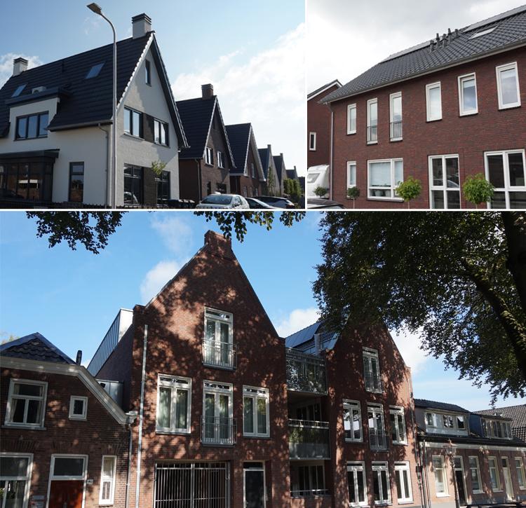 Impressie seriematige woningbouw